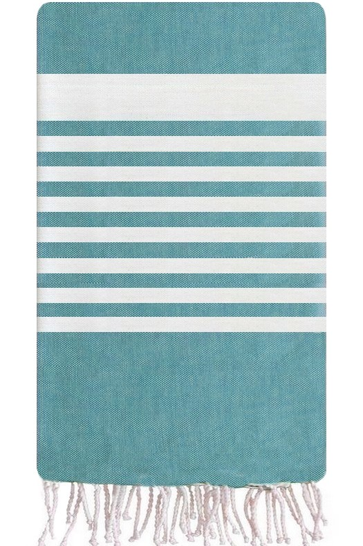 fouta serviettes foutas de plage 100 coton sajada fouta g ante bleu. Black Bedroom Furniture Sets. Home Design Ideas