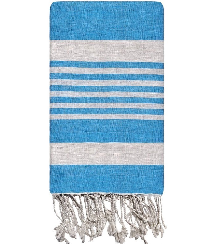 fouta faite main foutas artisanales en lin tiss es l 39 ancienne fouta bleuet. Black Bedroom Furniture Sets. Home Design Ideas